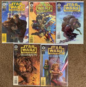 Star Wars  Tales of the Jedi Redemption lot 1-5 NEWSSTAND