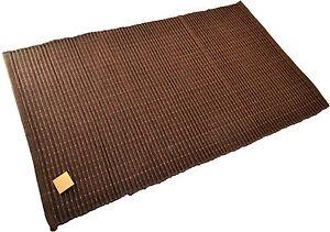 Chocolate Brown Rug Bath Mat Cotton Rayon 110cm x 70cm Machine Washable