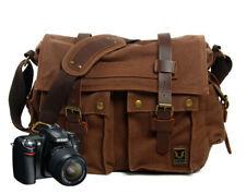 Canvas DSLR Messenger Camera Bag Shoulder Laptop Sleeve Photo for Canon Nikon