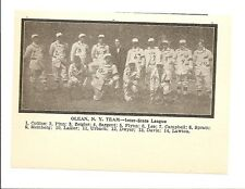 Olean Refiners 1907 Team Picture Inter-State League Baseball