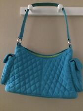 VERA BRADLEY QUILTED PURSE/POCKET BOOK/LUNCH BOX TURQUOISE BLUE - $60