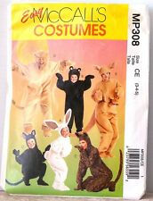 EASY McCalls MP308 YOUNG CHILD Animals COSTUME Sz 3-4-5 $14