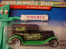2000 Hot Wheels '32 FORD DELIVERY #26 ☆black/green/white;bbs ☆Circus on Wheels