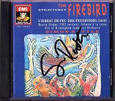 Simon RATTLE Signed STRAVINSKY L'Oiseau de feu Scherzo à la russe CD Firebird