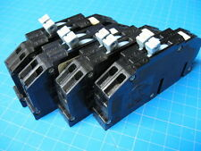 Set Of FOUR 15 AMP Zinsco 2 Pole Twin Circuit Breakers R38 ... FREE SHIPPING !