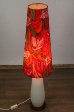 Teak Holz Glas Steh Lampe Lese Boden Leuchte Denmark Modern 50er 60er Vintage
