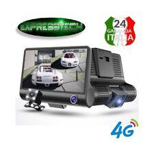 Nuova Dash Cam  da 4 pollici + retrocamera  HD 1080P Night Vision 4G anteriore e