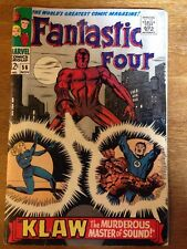 Fantastic Four #56 F-5.5 1st Klaw C 2nd App, Black Panther Marvel Movie Key 1966