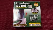 16 Furniture Feet Slip On Flexible Floor Protectors 8 Large & 8 Small