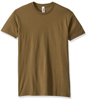 Marky G Apparel Men's Cotton Crew T-Shirt Military Green Size XS NWT
