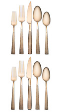 Hampton Forge Argent Orfrevres 10-Piece Flatware Set, Stainless Steel, Rose Gold