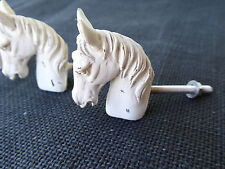 HORSE Head Creamy White Mare Stallion Farmhouse Cabinet Drawer Pull Knob