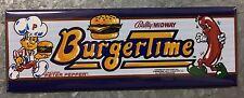 Burgertime Arcade Game Marquee Fridge Magnet