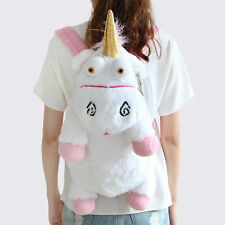 Despicable Me2 Cute Fluffy Unicorn BACKPACK Stuffed Soft Plush Toys Child Bags#1