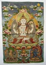 "23.6""Tibet Tibetan Silk Inwrought Maitreya Buddha Thangka Tangka"