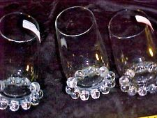 3 CANDLEWICK  TUMBLERS, ONE PRICE  BY IMPERIAL GLASS CO        . SALE  SALE