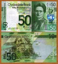Scotland, Clydesdale Bank, 50 pounds,  2015, P-229L, UNC