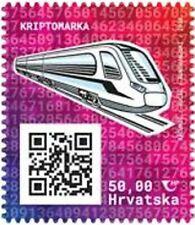 Kroatien Hrvatska 2020 Crypto Stamp, Motiv Zug, SELTEN, postfrisch MNH