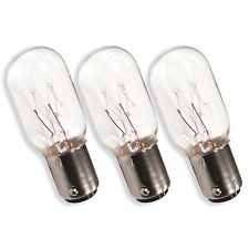 3 x Sewing Machine Bulb 15W 240V - Janome, Elna, Brother, Singer, Globe, Bayonet