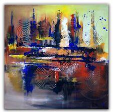 BURGSTALLER Abstrakte Malerei Bild Gemälde Modernes Acrylbild Braun Blau gemalt