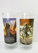 Two Star Wars The Force Awakens Drinking Glasses Lucas Films