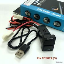 CAR USB Fast Charger Smart Phone PDA  DVR + Audio Input for Toyota S #gtns