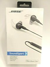 NEW Bose SoundSport In-Ear Wired Headphones for Apple - Charcoal - SEALED