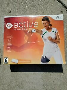 Wii Active Personal Trainer Package Game Disc Leg Strap Resistance Band. USED.