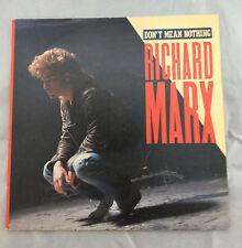 "RICHARD MARX - Don't Mean Nothing  7"" Vinyl Record VG 1987 Australian Pres 45"