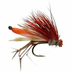Orange Daddyhog Foam Daddy Dry Fly - Size 10 - Trout Fly Fishing