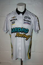 IndyCar Harding Racing Gabby Chaves Snap Front Pit Crew Jersey Shirt Sz L Large