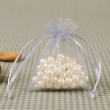 100pcs Wedding Gift Organza Bags Party Favor Candy Pouches Jewelry Sheer Bags