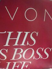 Retractable Banner 78 X 33 Avon Boss Life Red New With Carrying Case