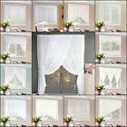 Cortina Visillo Blanco Voile Punta Salón Cinta RIZO Casa de campo set