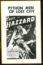 Python Men of Lost City by Chester Hawks-Pulp Classics #2-1974-Capt. Hazzard