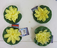 Bermuda Silk Pond Lilies Pack of 4 Yellow