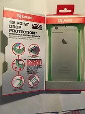 iPhone 6,6S Edge Clear Case in Chronic Green/Clear EXCE1AE114GRC by Extreme BNIB