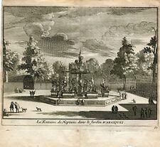 La fontaine de Neptune dans le Jardin d'Aranjuez par Pieter van der Aa