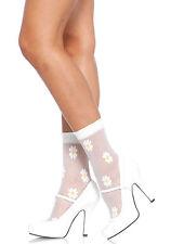 Daisy Fußkettchen weiß Netz Socken Leg Avenue 3036 Sexy NEU Rock & Rolle Tänzer