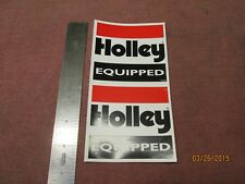 """2 New Vintage Holley Equipped Carburetor Stickers 3 1/2"""" X 3 1/4"""" Ford Mopar 427"""