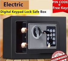 New Small Black Digital Electronic Safe Box Keypad Lock Home Office Hotel Gun BA