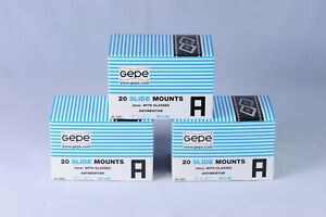 [ New ] GEPE 20 slide mounts 120 60x60 3mm with glasses antinewton [from Taiwan]