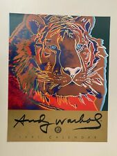 ANDY WARHOL, SIBERIAN TIGER 1983,AUTHENTIC FRONT COVER PRINT FROM 1991 CALENDAR