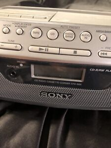VTG Sony 90s radio cassette player disc compact digital audio player  Nos 📻