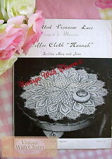 """Vintage Viennese Lace Knitting Pattern  For Coffee Cloth """"Hannah""""  FREE UK P&P"""