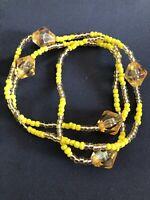 ELEKE Collar De Orisha OSHUN decor Ileke Santeria  Yoruba / Collar Religioso