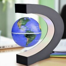 Magnetic Levitation Floating Globe LED C Shape World Map Night Light Home Decor