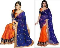 Designer Saree Pakistani Bollywood Indian Sari traditional embroidery fancy wear