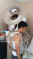 SOUSAPHONE 22 INCH BELL SILVER POLISH MADE OF PURE BRASS + FREE CASE + FREE SHIP