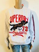 Superdry- cooles Sweatshirt Schriftzug in grau - NEU Gr 40 L 3031ok